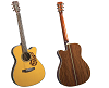 BLUERIDGE HISTORIC SERIES CUTAWAY ACOUSTIC-ELECTRIC DREADNAUGHT ACOUSTIC GUITAR - BR-163CE