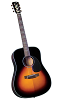 BLUERIDGE CONTEMPORARY SERIES GOSPEL ACOUSTIC GUITAR- BR-340