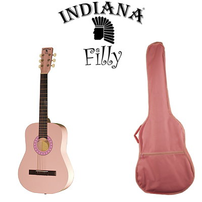 "Indiana Pink Filly Travel Series 36"" Acoustic Guitar"