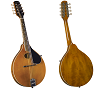 KENTUCKY ARTIST OVAL HOLE A-STYLE MANDOLIN-TRANSPARENT AMBER-KM-272