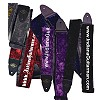 Personalized Crushed Velvet / Leather Guitar Straps